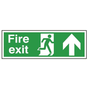 Picture of Fire Exit Up Arrow Sign