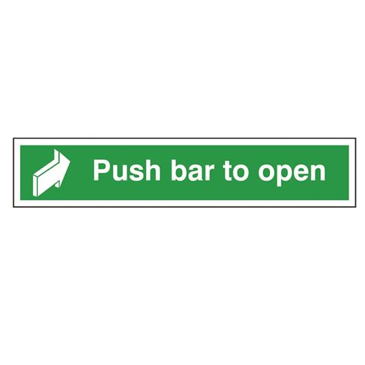Picture of Push Bar To Open Sign