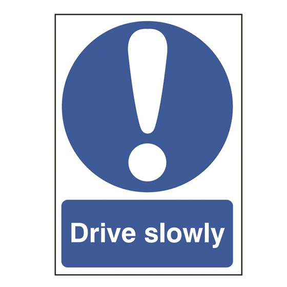 Picture of Drive Slowly Sign