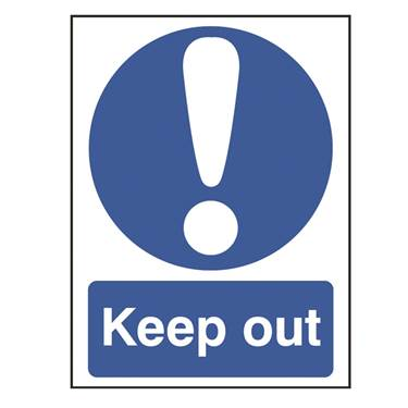 Picture of Keep Out Sign