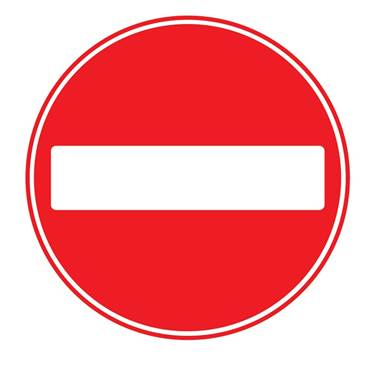 Picture of No Entry Sign