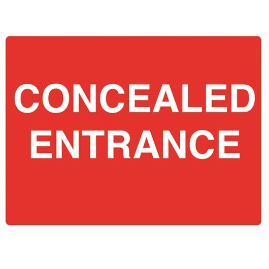 Picture of Concealed Entrance Sign