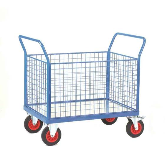 Picture of Fort Galvanised Platform Trucks with Four Mesh Sides