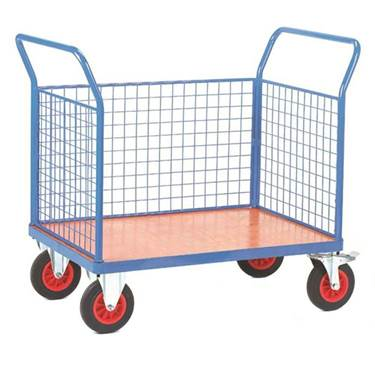 Picture of Fort Plywood Platform Trucks with Three Mesh Sides