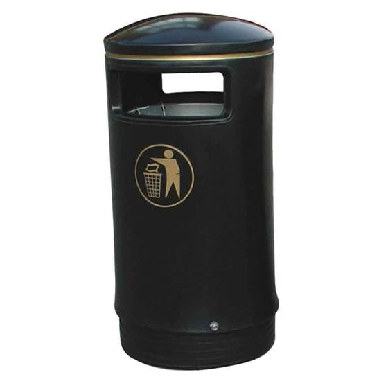 Picture of Hooded Top Victorian Litter Bins