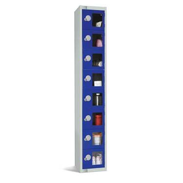 Picture of Eight Door Vision Panel Lockers