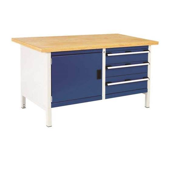 Picture of Super Heavy Duty Storage Bench with Cupboard & 3 Drawers