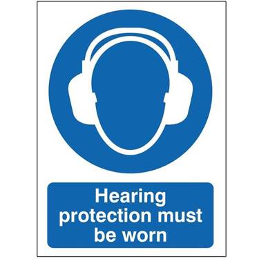 Picture of Hearing Protection Must Be Worn Sign