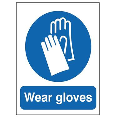 Picture of Wear Gloves Sign