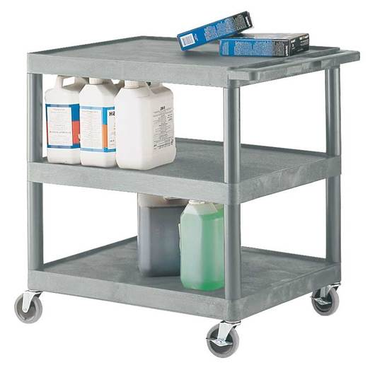 Picture of Large Grey 3 Shelf Trolley