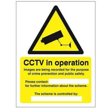 Picture of CCTV In Operation Sign