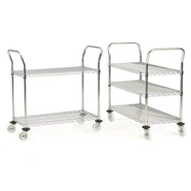 Picture of Economy Chrome Plated Wire Tray Trolley