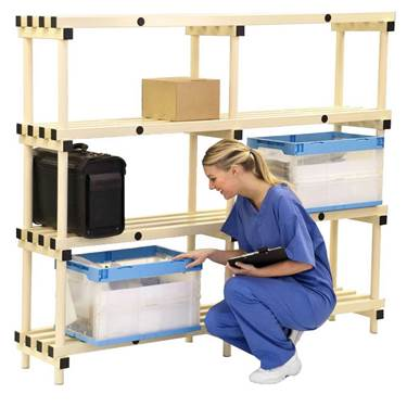 Picture of Mobile Plastic Shelving Systems