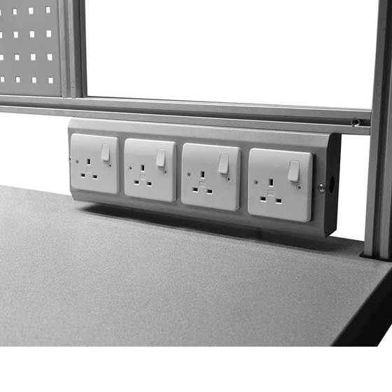 Picture of Worktop Service Duct for Binary Electric Height Adjustable Workbenches