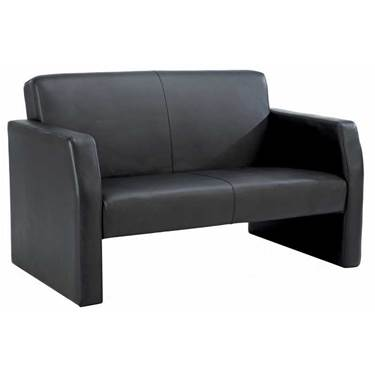 Picture of Face Bonded Leather Two Seat Reception Sofa