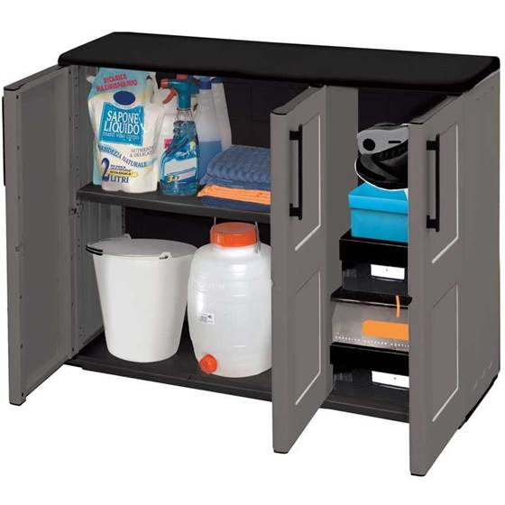 Picture of Industrial Compact Triple Door Utility Cupboard